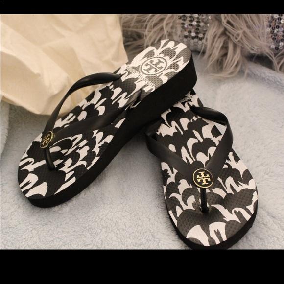 3b158ae6e728 Tory Burch flip flop wedge sandals women. M 5b28538e035cf1d66d7be3d2